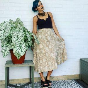 Vintage 90s silk midi skirt